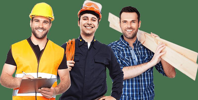 Trzech pracowników firmy ETSerwis